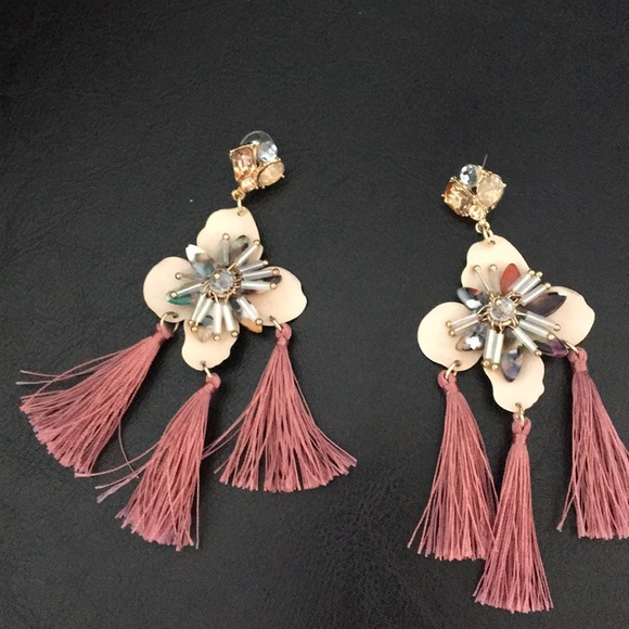 Badgley Mischka Jewelry - New Badgley Mischka Flower, stones & Tassels Earri